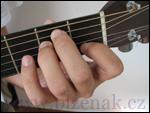 Kytara - držení levé ruky